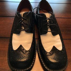 KENNETH COLE REACTION Black/White Sz 10 shoes